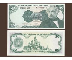 Венесуэла 20 боливар 1992 года