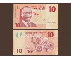 Нигерия 10 найр 2007 года