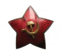 Звезда на головной убор РККА с накладным СиМ