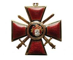 Знак ордена Святого равноапостольного князя Владимира 4-й степени с мечами