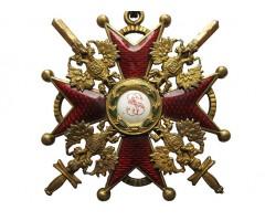 Орден Святого Станислава 2 степени с мечами.
