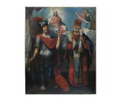 Икона Иоанн воин и Николай Чудотворец