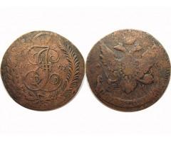5 копеек 1793 ЕМ (перечекан)