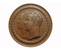 Медаль настольная ''В память основания около Берлина памятника, посвященного военным событиям 1813-1815 гг.'' 1818 год.