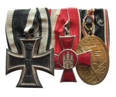 Наградная колодка ветерана Первой Мировой войны