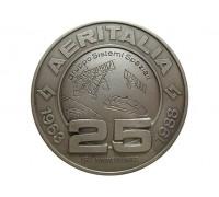 Памятная медаль 25 лет космическое агентство Италии