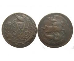 2 копейки 1757 года (перечекан)