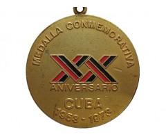 Памятная медаль 20 летний юбилей Кубинской революции