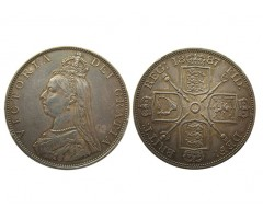 Великобритания 2 флорина 1887 года