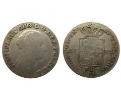 Польша 4 серебряных гроша ( злотый) 1787 года