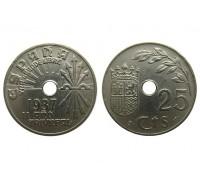 Испания 25 сентимо 1937 года