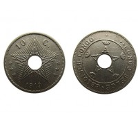 Бельгийское Конго 10 сентим 1919 года
