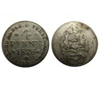 Шаумбург-Липпе 4 пфеннига 1828 года