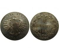 Франкфурт 1 крейцер 1853 года