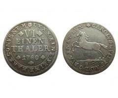 Брауншвейг-Вольфенбюттель 1/6 талера 1780 года