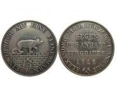 Ангальт-Бернбург 1 талер 1846 года