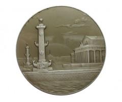 Ленинград.Ростральные колонны и здание Центрального военно-морского музея