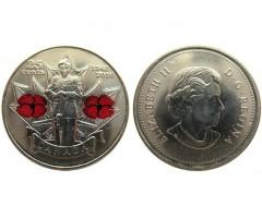 Канада 25 центов 2010 год