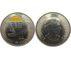 Канада 25 центов 2011 год