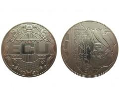 Нидерланды 10 экю 1991 год