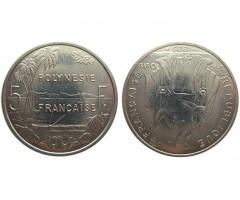 Полинезия 5 франков 1999 года