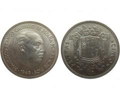 Испания 5 песет 1949 года