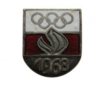 Членский знак олимпийской команды Польши 1968 год.