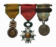 Франция наградная колодка на 3 медали