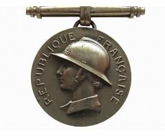 Франция Почетная  Серебряная  Медаль  Пожарных.  2-й тип, 2 класс