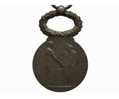 Франция серебряная медаль Общества взаимопомощи Министерства Труда и Социального Развития