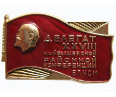 Делегат 28 Куйбышевской районной конференции ВЛКСМ