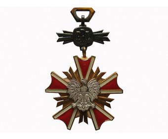 Орден Заслуг перед Польской Народной Республикой 4-го класса ( офицер) в коробке с грамотой