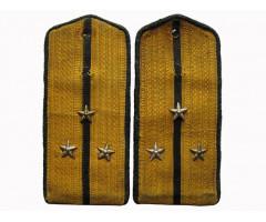 Повседневные погоны старшего лейтенанта технических войск (шелковый галун)