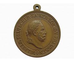 Медаль (жетон) в память укладки первого камня шлюза канала Киль-Хольтенау