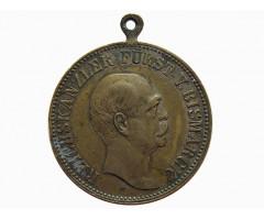 Медаль (жетон) в память 80-летия рейхсканцлера Германии Отто фон Бисмарка 1815-1898 гг.