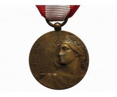 Медаль первый столетний юбилей фонда пожарных Милана