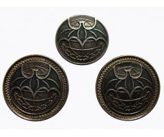 Запонка и застежка на галстук с символом военной разведки (серебро)