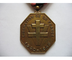 Почетная медаль для борцов сопротивления и санитаров 1940-1945 гг