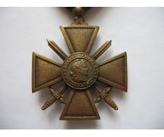 Военный крест 1939-1945 гг (1939-1945) с пальмовой ветвью