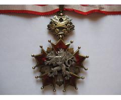 Орден Белого льва 3-й степени.