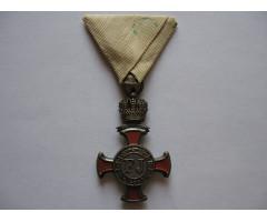 Австро-Венгрия крест «За заслуги» с короной (серебряная степень).