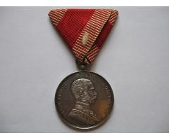 Австро-Венгрия серебряная медаль За храбрость 1-й степени