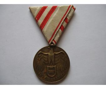 Австрия памятная медаль участника Первой мировой войны 1914-1918 гг