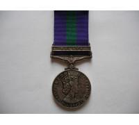 Великобритания медаль за службу с планкой MALAYA