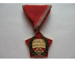 Венгрия медаль за отличную работу