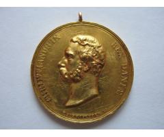 Дания Золотая Королевская медаль воздаяния Кристиан IX (1863-1906) (золото)