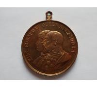 Великобритания жетон (медаль) в память коронации Эдуарда VII 26 июня 1902 г