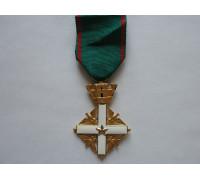 """Орден """"За заслуги перед Итальянской Республикой"""" в степени офицер (золото)"""